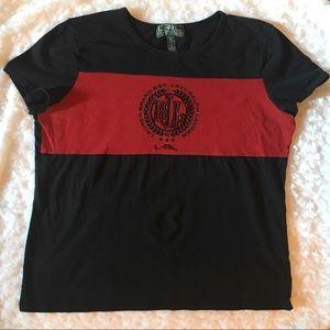 Lauren Active Ralph Lauren Black Tee Shirt
